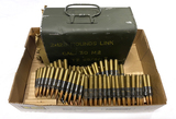 Metal Tin of 240 rounds Linked Cal. 30 M2 (.30-06 SPRG.) Lot TZ 59/81-7 Ammunition