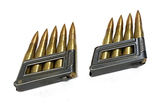 9rds. German Nazi 8x56Rmm Steyr Ammunition with 2 Stripper Clips