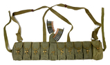 200rds. of Steel Case 7.62x39mm Ammunition in Chinese SKS T56 Chest Bandolier
