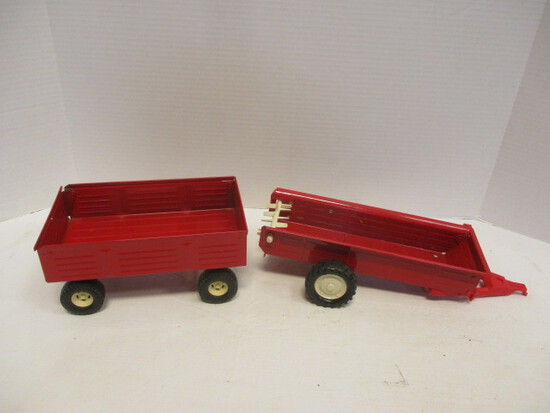 Two Ertl Harvesting Wagons
