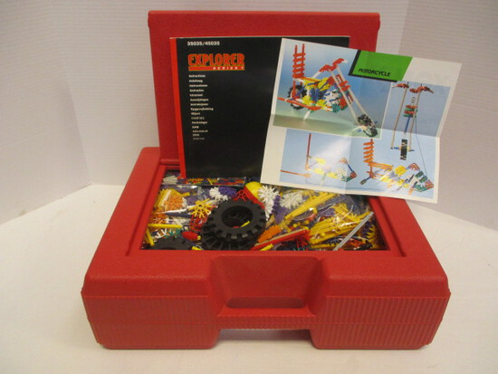 K'Nex Motorcycle And Ferris Wheel Kits In Storage Tote