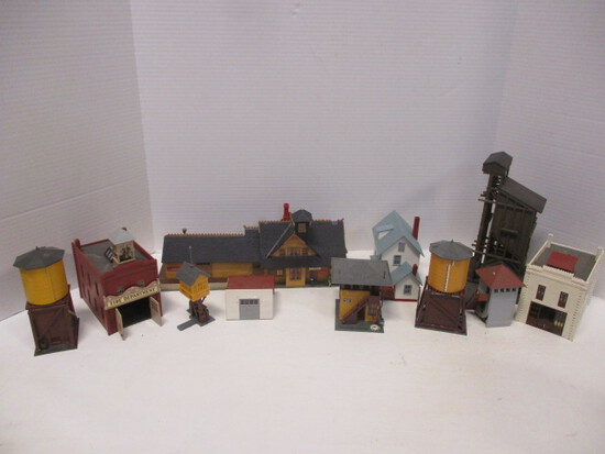 Model Railroad Station, Fire Department, Saloon, And More