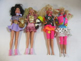Two Mattel Sleepover And 80's Style Barbie And Friends Dolls