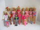 Nine Barbie And Friends In Costume