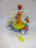 1990 Educalux Babar Pull-Along Carousel
