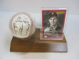 1991 Jay Bell Baseball Card And Signed Ball
