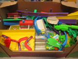 Hot Wheels Car Wash And Racetrack Sections