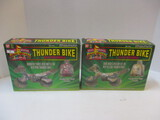 Two Ban Dai Mighty Morphin Power Rangers Thunder Bike Sets