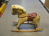 Superior Fabric Covered Wooden Rocking Horse