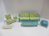 1963 Mattel Barbie Sofa, Chairs, And Tables