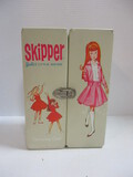 1963 Skipper Dolls In 1964 Carrying Case With Clothing & Accessories