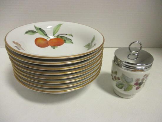 Royal Worcester Evesham Bowls and Egg Coddler