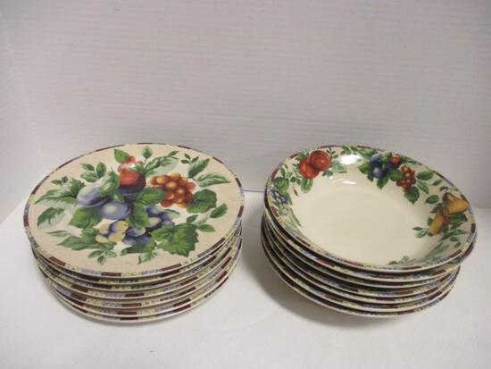 Oneida Sakura Sonoma Cereal Bowls and Salad/Sandwich Plates