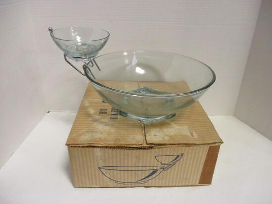 Vintage Jeanette Glass Chip 'n Dip Set