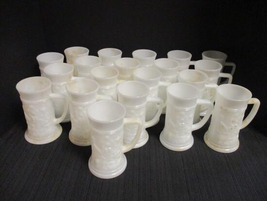 20 Milk Glass Steins