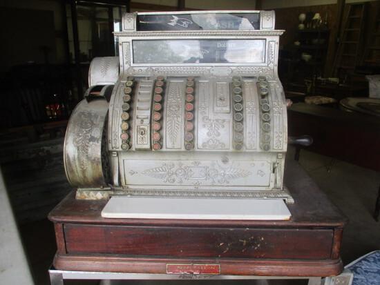 Antique Henry Kass Inc. National Hand Crank Cash Register