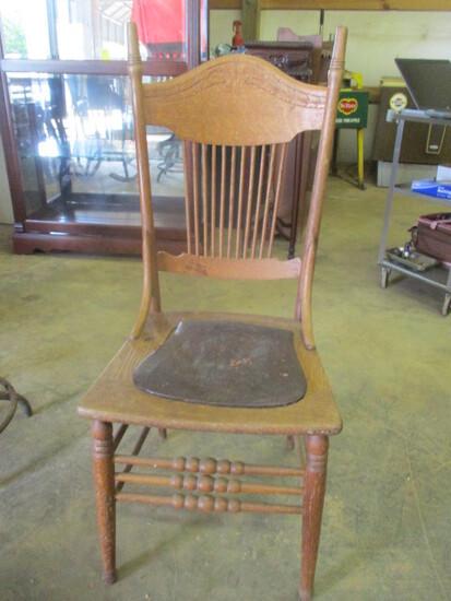 Antique Oak Victorian Chair