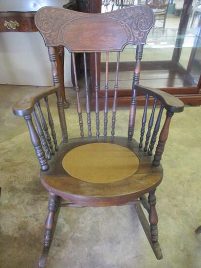 Antique Burkhardt Co. Victorian Gingerbread Rocking Chair