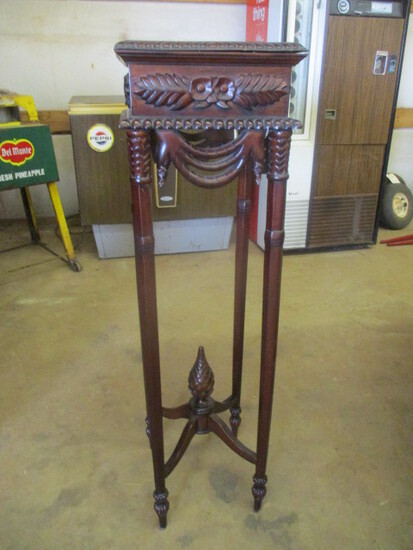 Mahogany Carved Square Stand/Pedestal