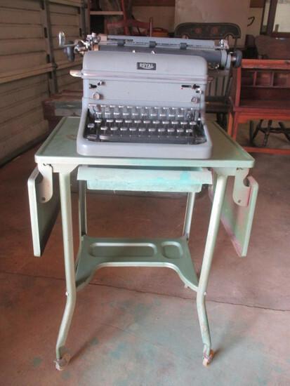 Antique Royal Touch Control Typewriter and Metal Rolling Drop Side Typewriter