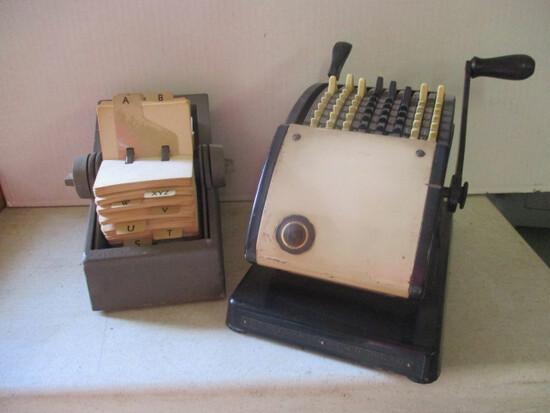 "Antique The Hedman Mfg. F&E ""The Lightening"" Check Writer Machine No. 2001936"