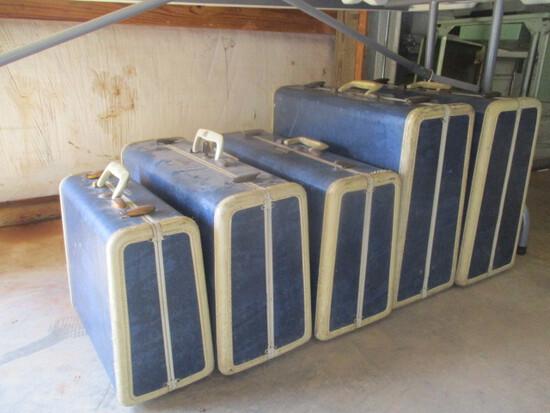 Vintage Samsonite 5 Pc. Suitcase Set