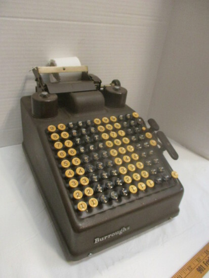 Burroughs Electronic Adding Machine In Monroe Dust Cover
