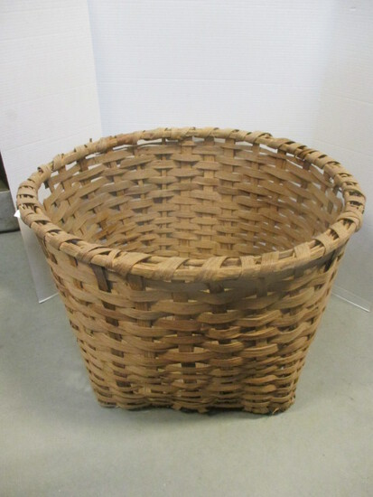 Large Split Oak Cotton Gathering Basket