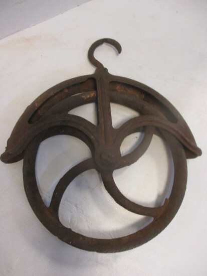 """Metal Pulley With 9"""" Wheel"""