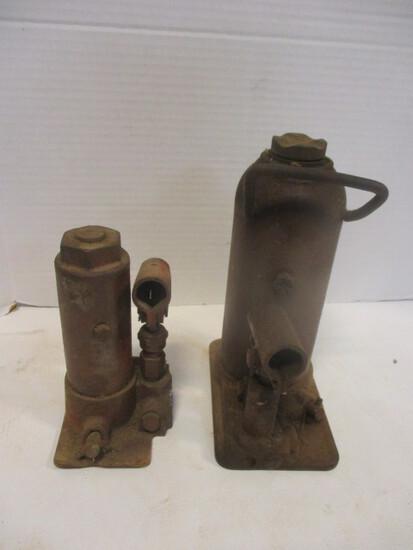 Two Vintage Bottle Jacks