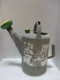 Large Metal Watering Can With Plastic Sprinkler Spouts