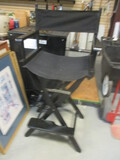 Black Canvas Director's Chair