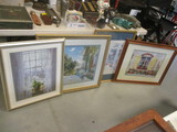 Four Framed And Matted Art Prints