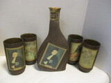Beam's Choice Judge Manet With Set Of 4 Glasses
