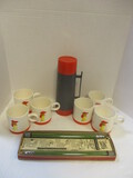 Set Of Six 1961 Holt Howard Coffee Cups With Rooster Motif,