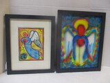 Framed Victor Kinza Angel On Canvas And