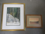 Framed & Matted Treescape By Toni Chaplin.