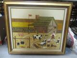 Signed Original Farm Scene By Michael Corey