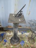 Metal Seahorse Sundial