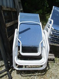 Set Of 4 Stacking Metal Frame Chaise Loungers