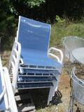 Set Of 4 Stacking Metal Frame Chairs
