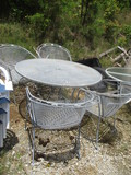 5-Piece Metal Mesh Table And Chairs