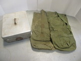1967 Wear-Ever Aluminum US Military Storage Box.  2 Laundry Bags.