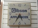 Gibson Appliances Aluminum Frame Electric Wall Clock