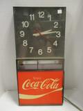 Coca-Cola Advertising Electric Wall Clock