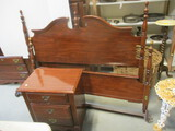 Cherry Finish Full/Queen Headboard & Footboard With Rails