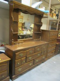 7-Drawer Dresser With Mirrored Hutch