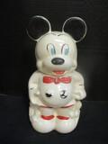 Walt Disney TurnAbout Mickey & Minnie Double-Sided Cookie Jar
