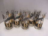 Set Of 8 Drinking Glasses With Pilgrim Silhouette