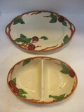 Franciscan Apple Platter And Divided Serving Dish